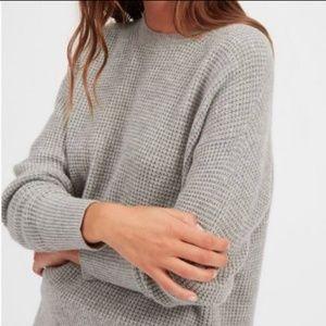 J. Crew| Warmspun Waffle knit Heather Gray Sweater